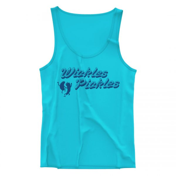 Product Photo of the Blue Wickles Folded Tank Top