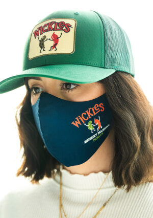 Woman wearing Wickles mask