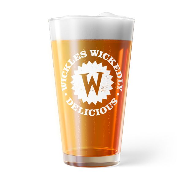 Photo of a Wickles Pickles Pint Glass